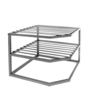 Seville Classics Corner Kitchen Cabinet Organizer  - Silver