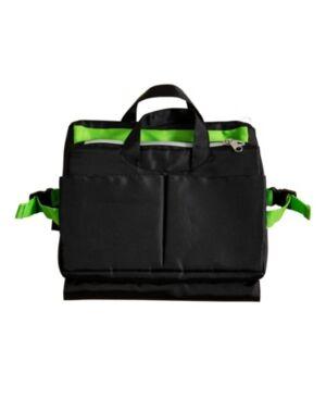 Honey Can Do Compact 11-Pocket Tech & Phone Accessories Organizer  - Black; green