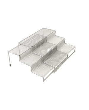 Mind Reader 3 Tier Metal Mesh Multi Purpose Kitchen Storage Organizer, 2 Pieces  - Silver