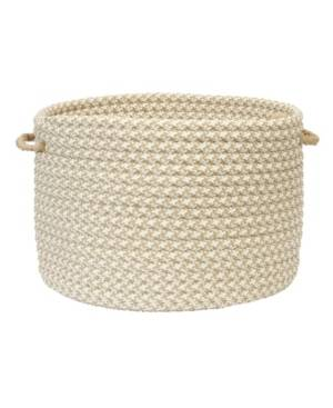 Colonial Mills Outdoor Houndstooth Tweed Braided Basket  - Cuban Sand