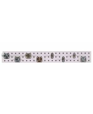 Triton Products Locboard Garden Pegboard Kit with 1 18 Gauge Steel Square Hole Pegboard and 8 Piece Lochook Assortment  - White