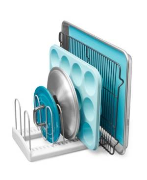 """YouCopia StoreMore 11"""" Pan Lid Rack  - White"""