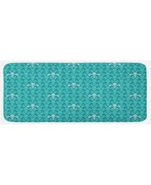 Ambesonne Printed Kitchen Mat  - Teal