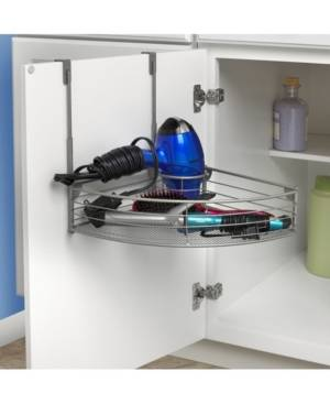 Spectrum Mybella Over The Cabinet Hair Dryer Holder Accessory Tray  - Chrome