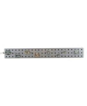 Triton Products Locboard Garden Pegboard Kit with 1 18 Gauge Steel Square Hole Pegboard and 8 Piece Lochook Assortment  - Silver-Tone