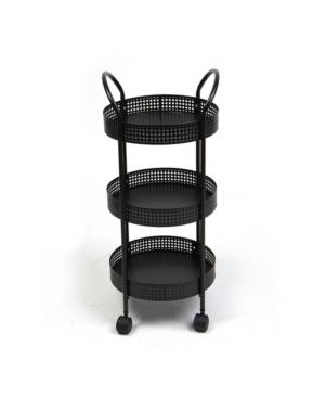 Mind Reader 3-Tier Metal Multi-Purpose Utility Cart  - Black