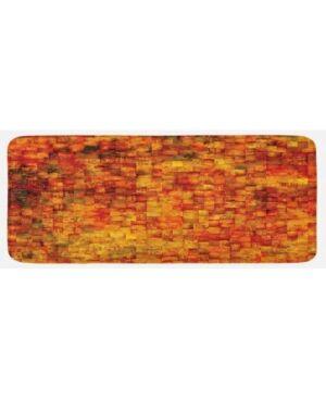 Ambesonne Printed Kitchen Mat  - Orange