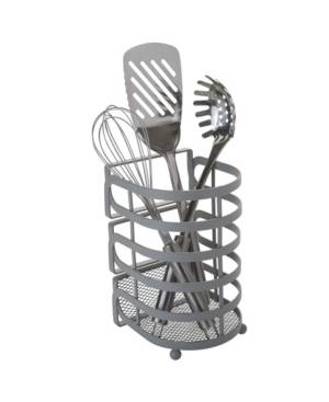 Kitchen Details Industrial Collection Cooking Utensil Basket  - Gray