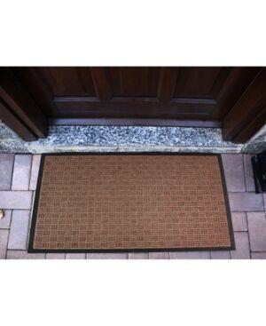 Floortex Doortex Rib Mat Heavy Duty Indoor and Outdoor Entrance Mat Bedding  - Brown