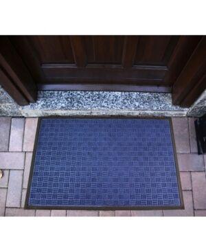 Floortex Doortex Rib Mat Heavy Duty Indoor and Outdoor Entrance Mat Bedding  - Blue