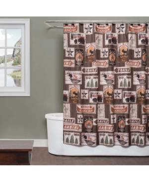 """Saturday Knight Great Outdoors Printed 70"""" x 72"""" Shower Curtain Bedding  - Earthtones"""