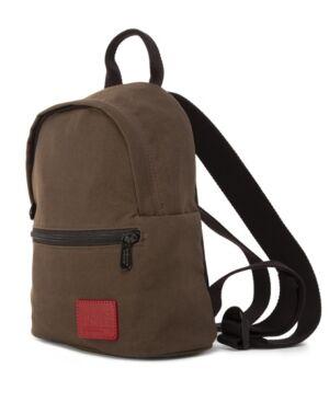 Manhattan Portage Waxed Nylon Randall's Backpack  - Dark Brown