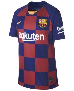 Nike Big Boys Fc Barcelona Club Team Home Stadium Jersey  - Maroon/Blue