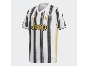 adidas Youth Juventus Club Team Home Stadium Jersey  - White/Black/Gold