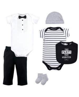 Little Treasure Clothing Set, 6 Piece Set, 0-12 months  - Black