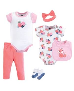 Hudson Baby Clothing Set, 6-Piece Set, 0-12 Months  - Floral Fox