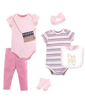 Little Treasure Clothing Set, 6 Piece Set  - Pink