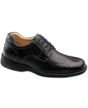 Johnston & Murphy Men's Comfort Shuler Bike Toe Oxford Men's Shoes  - Black Tumbled