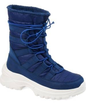 Journee Collection Women's Icey Fashion Winter Boot Women's Shoes  - Blue
