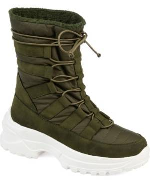 Journee Collection Women's Icey Fashion Winter Boot Women's Shoes  - Olive