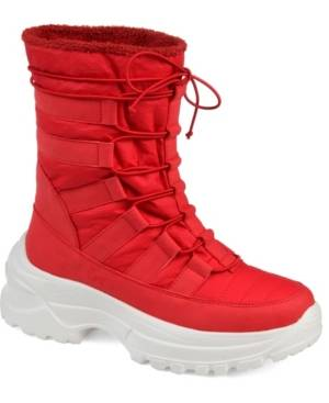 Journee Collection Women's Icey Fashion Winter Boot Women's Shoes  - Red