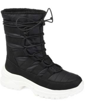 Journee Collection Women's Icey Fashion Winter Boot Women's Shoes  - Black