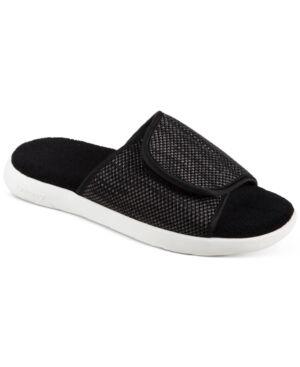 Isotoner Signature Women's Zenz Sport Knit Slide Slip-Ons  - Black