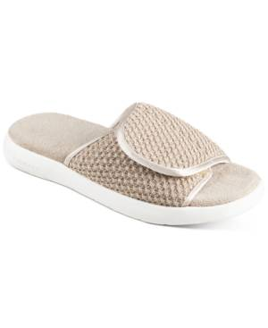 Isotoner Signature Women's Zenz Sport Knit Slide Slip-Ons  - Evening Sand