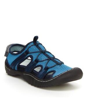Jbu Sport Thunder Women's Outdoor Casual Slip On Sandal Women's Shoes  - Aqua, Blue