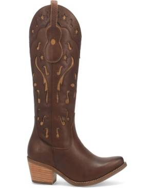 Dingo Women's Music City Leather Boot Women's Shoes  - Brown