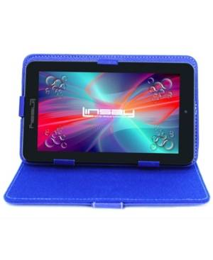 """Linsay 7"""" New Quad Core Tablet Bundle with Blue Leather Case Android 10 Dual Camera  - Black"""