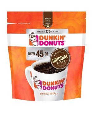 Dunkin' Donuts Original Blend Ground Coffee Medium Roast, 45 oz