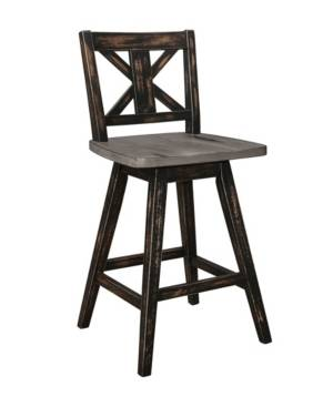 Furniture Homelegance Springer Counter Height Dining Swivel Chair  - Brown