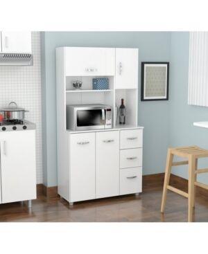 Inval America Kitchen Storage Cabinet  - Laricina-white