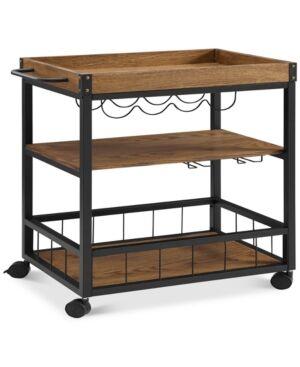 Linon Home Decor Austin Kitchen Cart  - Black