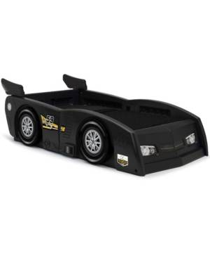 Delta Children Grand Prix Race Car Toddler and Twin Bed  - Black