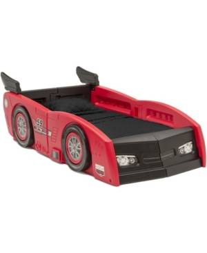 Delta Children Grand Prix Race Car Toddler and Twin Bed  - Red