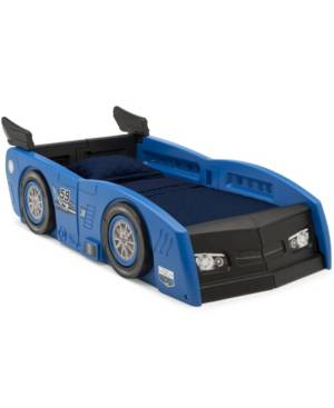 Delta Children Grand Prix Race Car Toddler and Twin Bed  - Blue