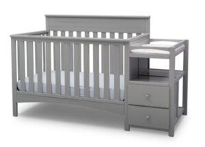 Delta Children Children Presley Convertible Crib and Changer, Quick Ship  - Grey
