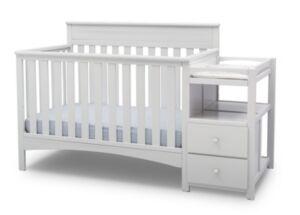 Delta Children Children Presley Convertible Crib and Changer, Quick Ship  - Bianca Wh