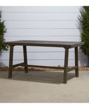 Vifah Renaissance Outdoor Patio Picnic Dining Table  - Gray