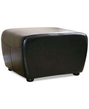Furniture Blayne Leather Ottoman