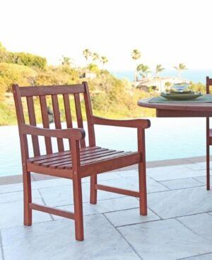 Vifah Malibu Outdoor Garden Armchair  - Tan