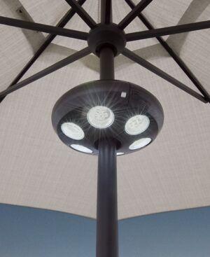 "Treasure Garden Outdoor Umbrella Large 9"" Led Light  - Black"