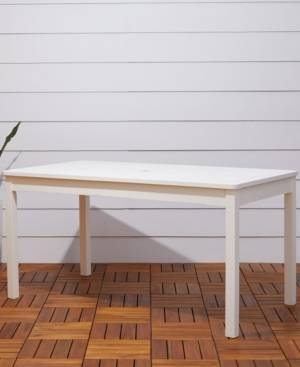 Vifah Bradley Outdoor Rectangular Patio Dining Table  - White