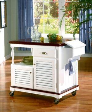 Coaster Home Furnishings Hobart 2-Door Kitchen Island  - White