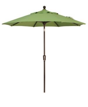 Treasure Garden Outdoor Bronze 7.5' Push Button Tilt Umbrella  - Kiwi