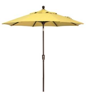 Treasure Garden Outdoor Bronze 7.5' Push Button Tilt Umbrella  - Lemon