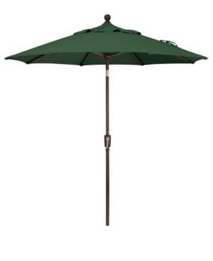 Treasure Garden Outdoor Bronze 7.5' Push Button Tilt Umbrella  - Forest Green
