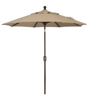 Treasure Garden Outdoor Bronze 7.5' Push Button Tilt Umbrella  - Sand